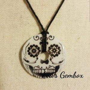 3 for $13 - Skull/Skeleton Washer Necklace